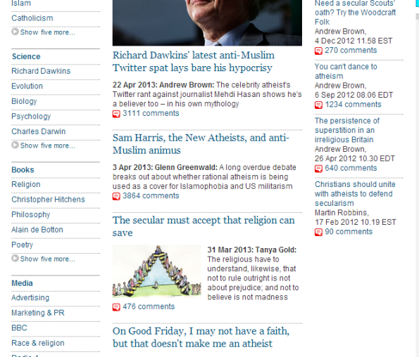 Guardian Atheist Page